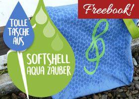 Freebook Tasche nähen aus Softshell