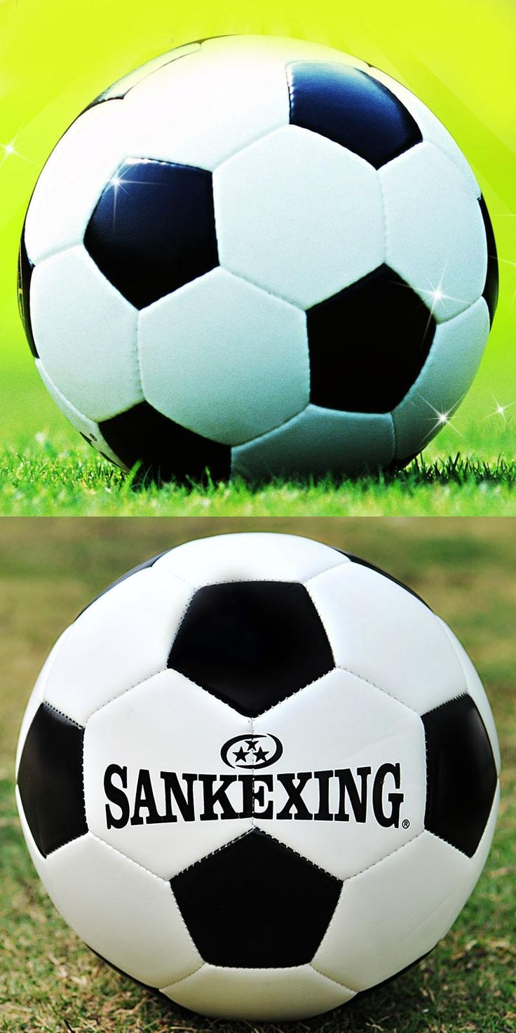 [Visit to Buy] Hot Sale Classic Black White Standard Soccer Ball Size 5 Training Voetbal Bal Germany Spain Football France 2017 futbol #Advertisement