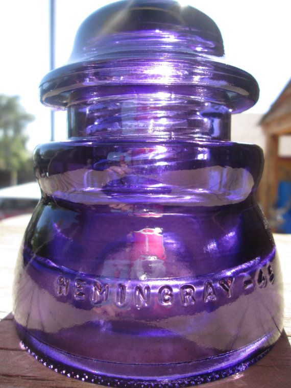 Beautiful Hemingray 45  Purple Glass Insulator by SalvagedGlass