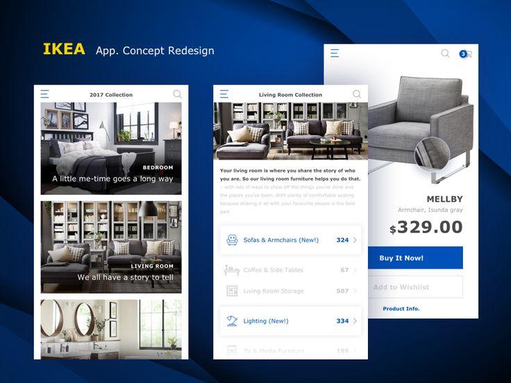 IKEA app. by Yi Li #Design Popular #Dribbble #shots