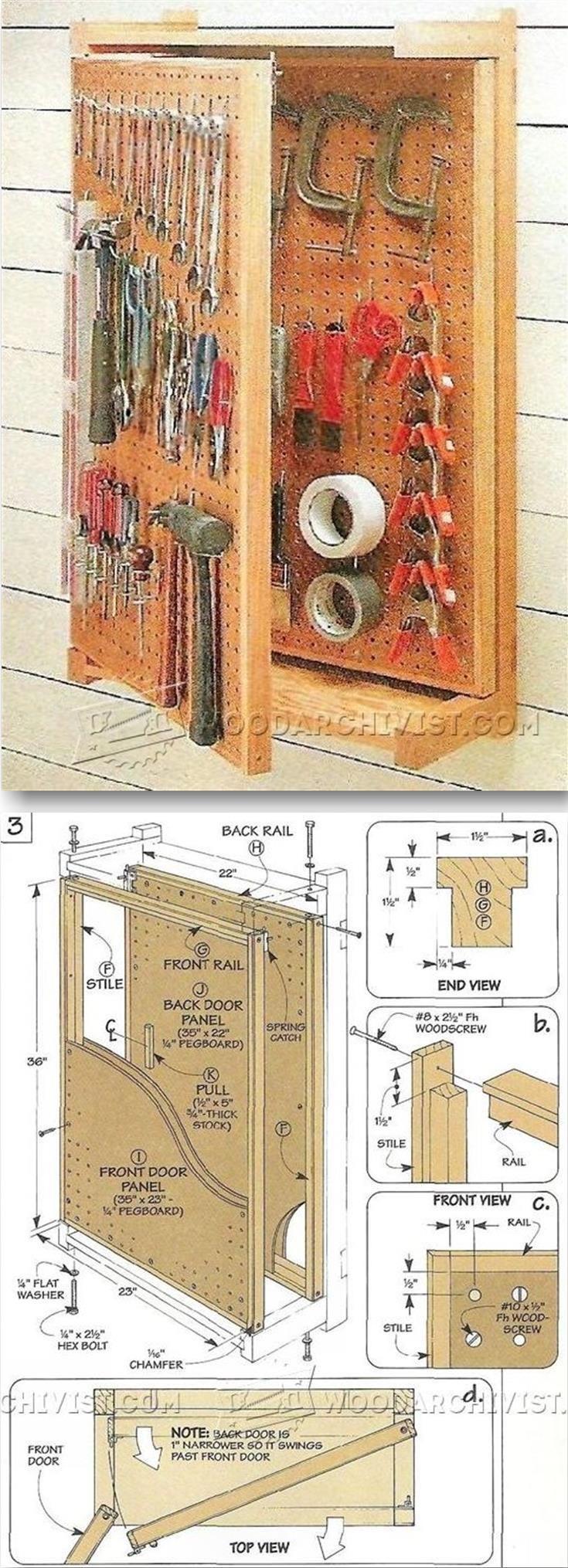 Pegboard Storage Rack Plans Workshop Solutions