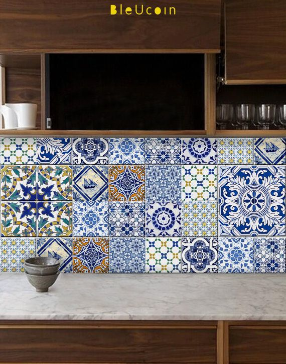 Portuguese tile decal We have created & mixed Portugal designs for your kitchen/ bathroom decor! They are a perfect way to renovate your home!