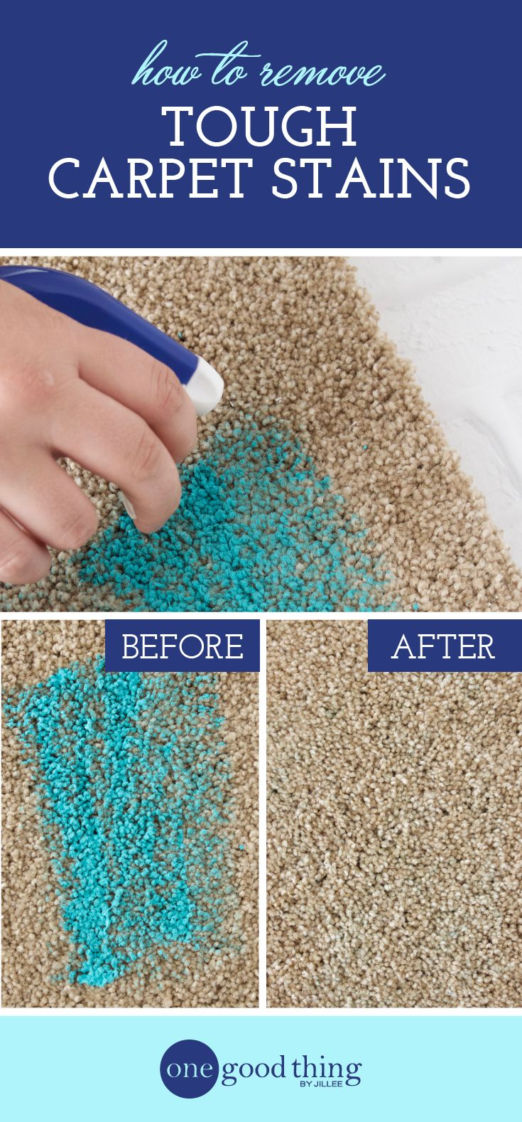 This Is The Best Way To Remove Tough Carpet Stains - One Good Thing by Jillee