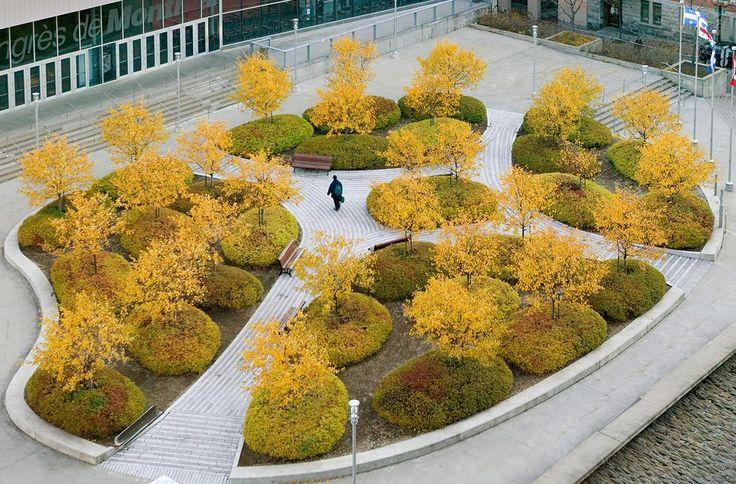 Esplanade du Palais des Congrès de Montréal by Claude Cormier + Associes,  structures organiques