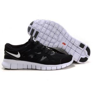Billig rabatt Menn Nike Free Run Plus 2 Svart Hvit
