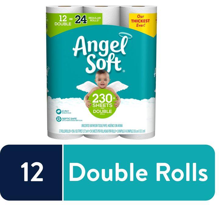 Angel soft toilet paper 12 double rolls