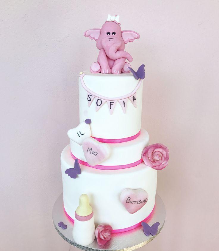 Battesimo #battesimo #cake #cakes #cakedesign #social #sugarpaste #food #elephant #love