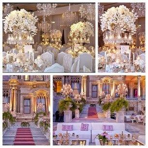 Beautiful Wedding Decor At The Ciragan Palace In Istanbul Turkey Beautiful Pink Carpet
