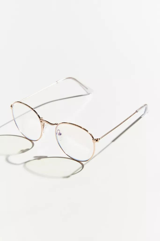 Taylor Blue Light Round Glasses In 2020 Blue Glasses Trendy Glasses Clear Round Glasses