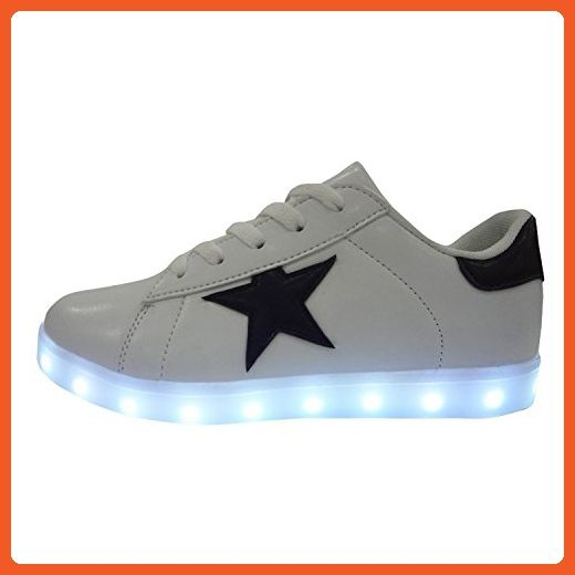Reinhar Fashionable Unisex Adults Led Shoes For Men Women Light Up Sneakers Lace-up Flats White38 M EU / 6.5 D(M) US - Sneakers for women (*Amazon Partner-Link)