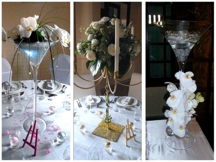 coupe martini et chandelier