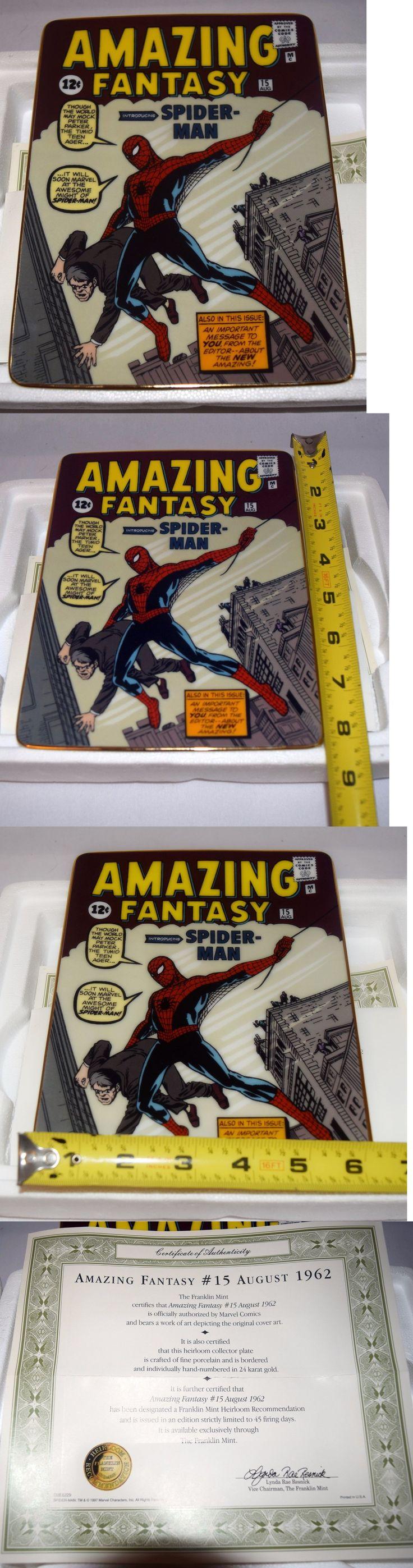 Spider-Man 146094: Franklin Mint Amazing Fantasy #15 Spider-Man Fine Porcelain Plate Limited Ha6140 -> BUY IT NOW ONLY: $69.99 on eBay!