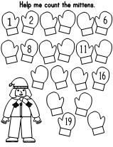 Printable Worksheet. Have the children fill in the missing numbers