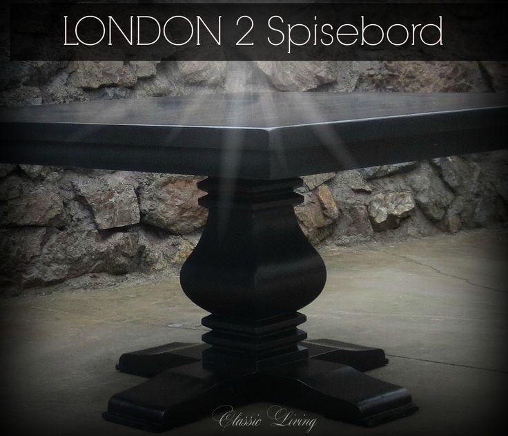 London 2 (Helsvart) kvadratisk spisebord fra Classic Living  https://classic-living.no/collections/bord/products/london-2-all-black