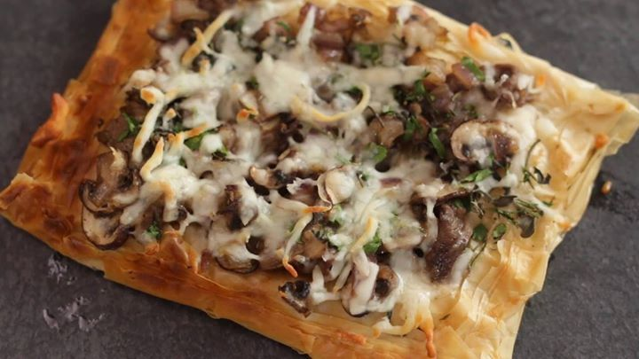 Steak Mushroom Phyllo Pizza LIKE Cooking Panda for more delicious videos!!!