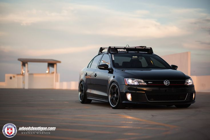 Volkswagen Jetta GLI with HRE 595RS in Satin Black | HRE Performance Wheels