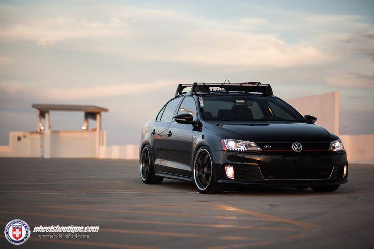 Volkswagen Jetta GLI with HRE 595RS in Satin Black   HRE Performance Wheels