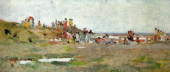 Pe malul Siretului - Nicolae Grigorescu