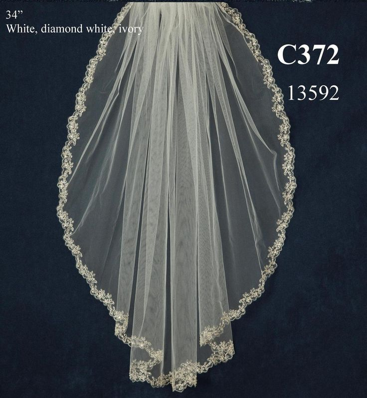 Beaded lace pattern embroidery wedding veil c372 for Wedding dress beading patterns