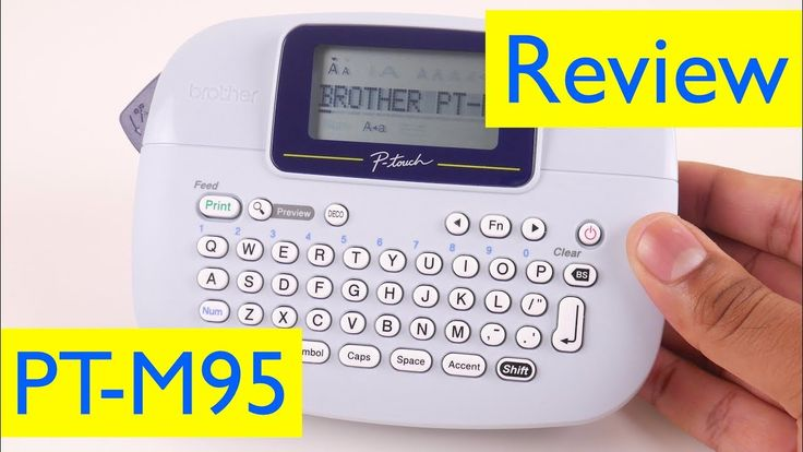 Brother P-Touch PT-M95 Label Maker Review | vs Dymo LabelManager 160