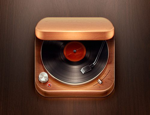 Record Player iOS Icon by Román Jusdado: Record Players, Icon Design, Appicon, Ios App, Icondesign, App Icons, Records Players, Icons Design, Ios Icons