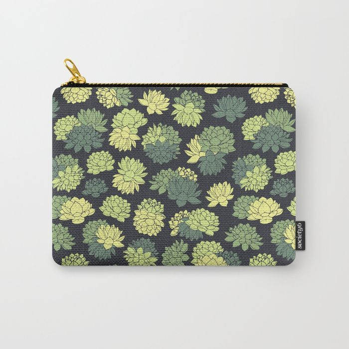 Green Succulents Pattern Carry-All Pouch #faerieshop #tropical #floral #succulents #plants #lotus #pattern #water #lily #flowers #drawing #art #liles #blossom #green #ornament #shopping #society6 #accessories #bags #cosmetic #buy #buyonline