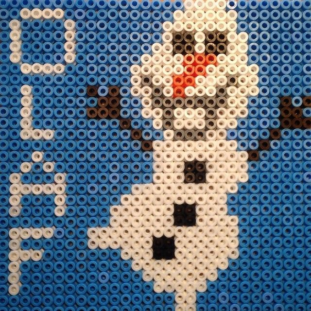 Olaf Frozen hama beads by hwelmholdt