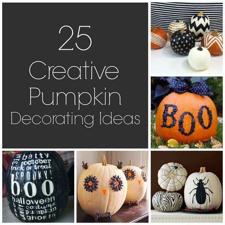 25 Great Creative Pumpkin Decorating Ideas!