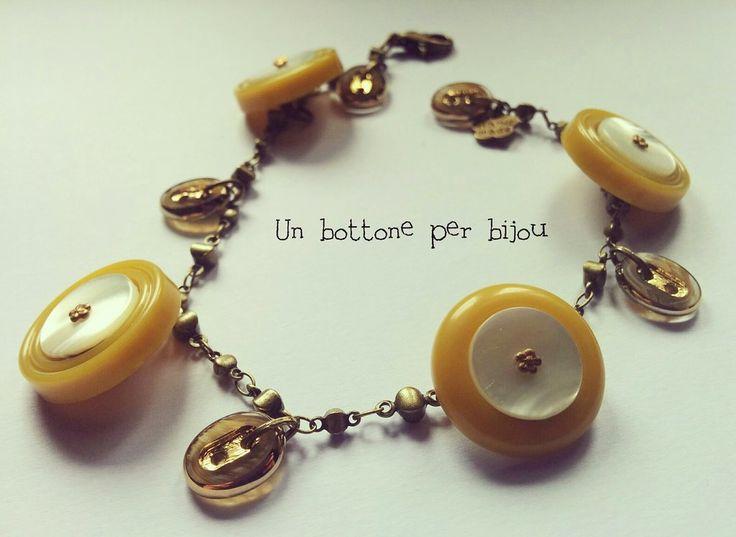 Bracciale/Braccialetto con bottoni d'epoca e vintage, by un bottone per bijou, 10,00 € su misshobby.com
