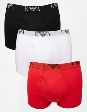 Emporio Armani 3 Pack Trunks Boxer Shorts £22.00 FREE DELIVERY at ASOS