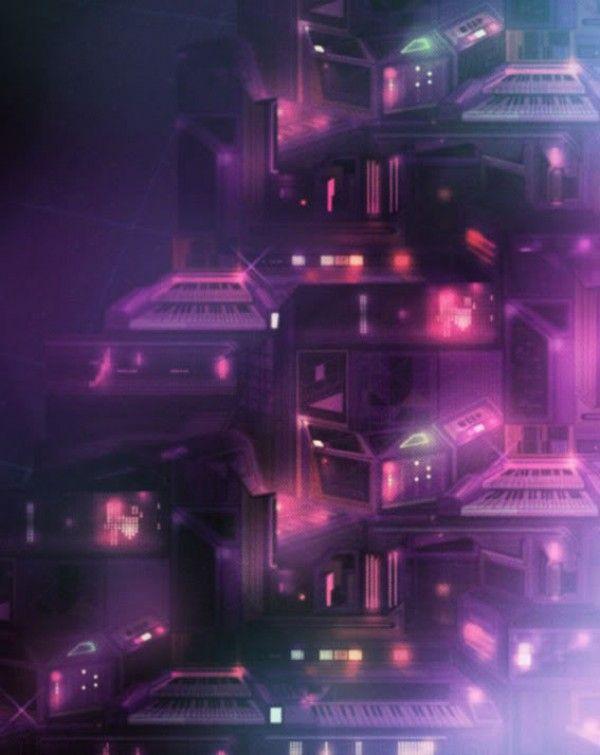 Vaporwave Iphone Wallpaper Retro Futuristic Illustrations By Kilian Eng Retro