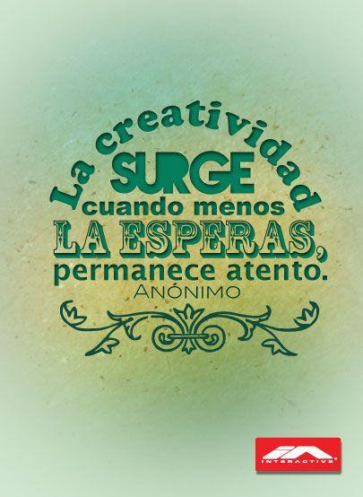La creatividad vive en ti