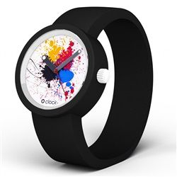 O Clock Watch - Splash Three dial with Black strap