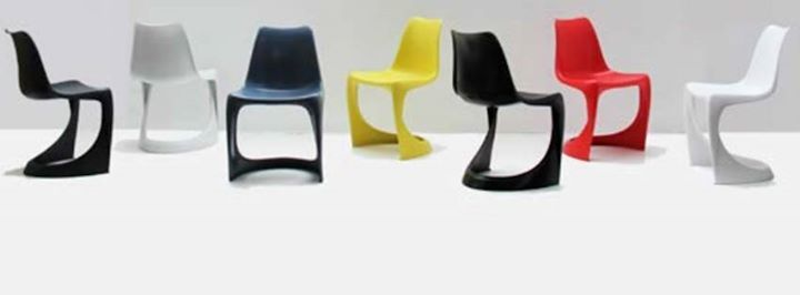The 290 Modo indoor outdoor injection molded chair. Designed by the Danish furniture designer and architect Steen Ostergaard in 1966, in production again with Nielaus.dk