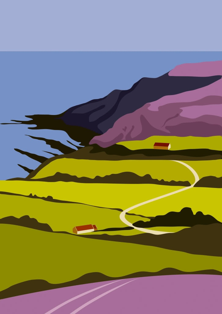 Towards Ravenscar, by Yorkshire artist Ian Mitchell http://www.ianmitchell-art.com/index.php/print-gallery/yorkshire-coast