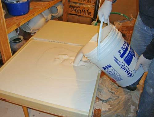 Put a pillowcase in the clay recycling bucket before you put clay. It will make it easier to remove to the plaster cast  General Directions and Guidelines - Plaster Molding