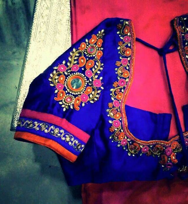 38 best images about Muggam work on Pinterest Hand embroidery