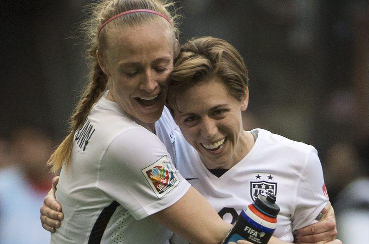 Becky Sauerbrunn and Meghan Klingenberg. (AP)