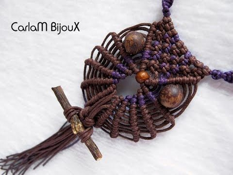 como hacer un buho en macrame | how to make macrame owl - YouTube