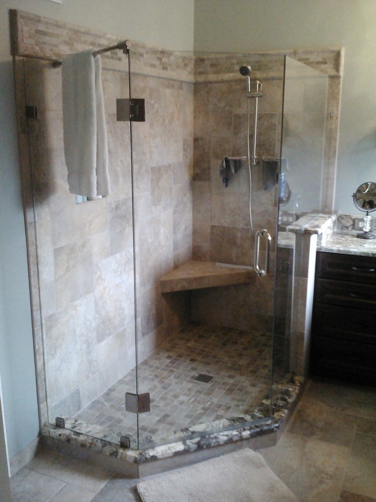 12 best images about stand up shower on pinterest small master bathroom ideas small sink and for Standing shower bathroom ideas