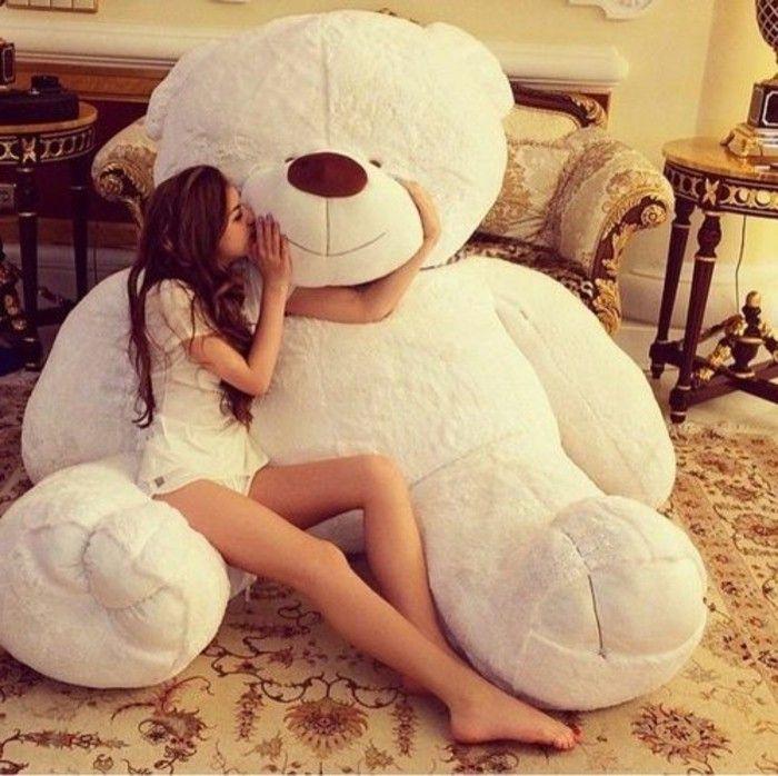 magnifique cadeau pas cher, grand ours en peluche géante