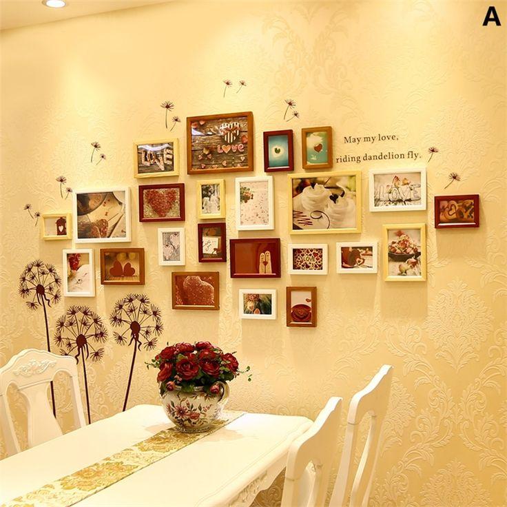 壁掛けフォトフレーム 写真用額縁 フォトデコレーション 木製 北欧風 23個セット 複数枚