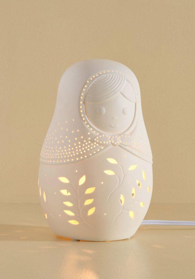 Ceramic Matryoshka Lamp
