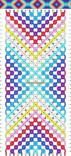 Friendship Bracelet Pattern Instructions | Patterns - Normal - Friendship Bracelet Pattern #9808