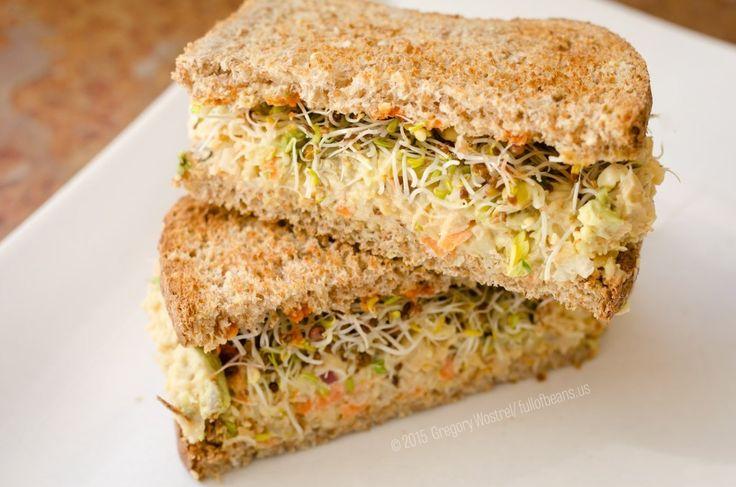 Vegan-Tuna-Sandwich-cut-and-stacked - vegan dinners