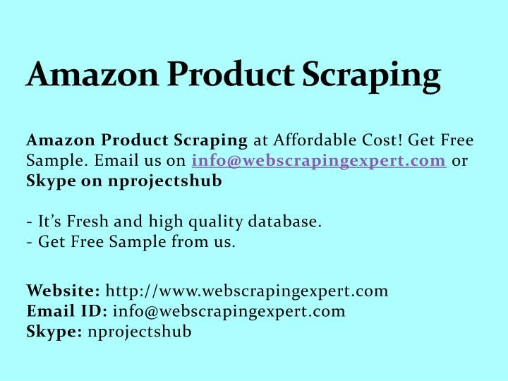Amazon Product Scraping | Web Scraping Services | Amazon