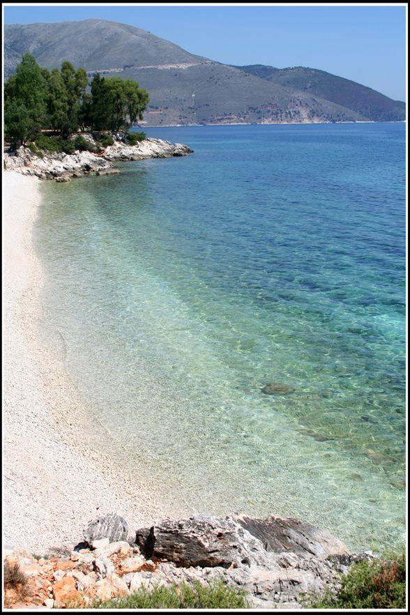 Karavomilos beach in Sami, on de island of Kefalonia, Ionian Islands_ Greece