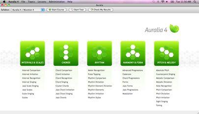 Auralia, cloud based ear training software