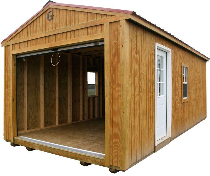 Open garage portable building by big b buildings big b for Gastonia garage door