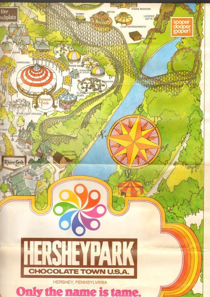 Hershey Park Maps : hershey, Vintage, Hershey, Pennsylvania, ZooAmerica, Poster, Hersheypark, Poster,, Park,
